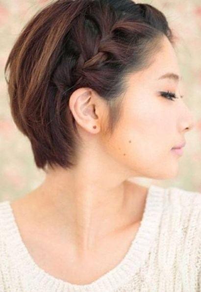 Coiffure attachée cheveux courts - http://lookvisage.ru/coiffure-attache-cheveux-courts/ #Cheveux #Beauté #tendances #conseils