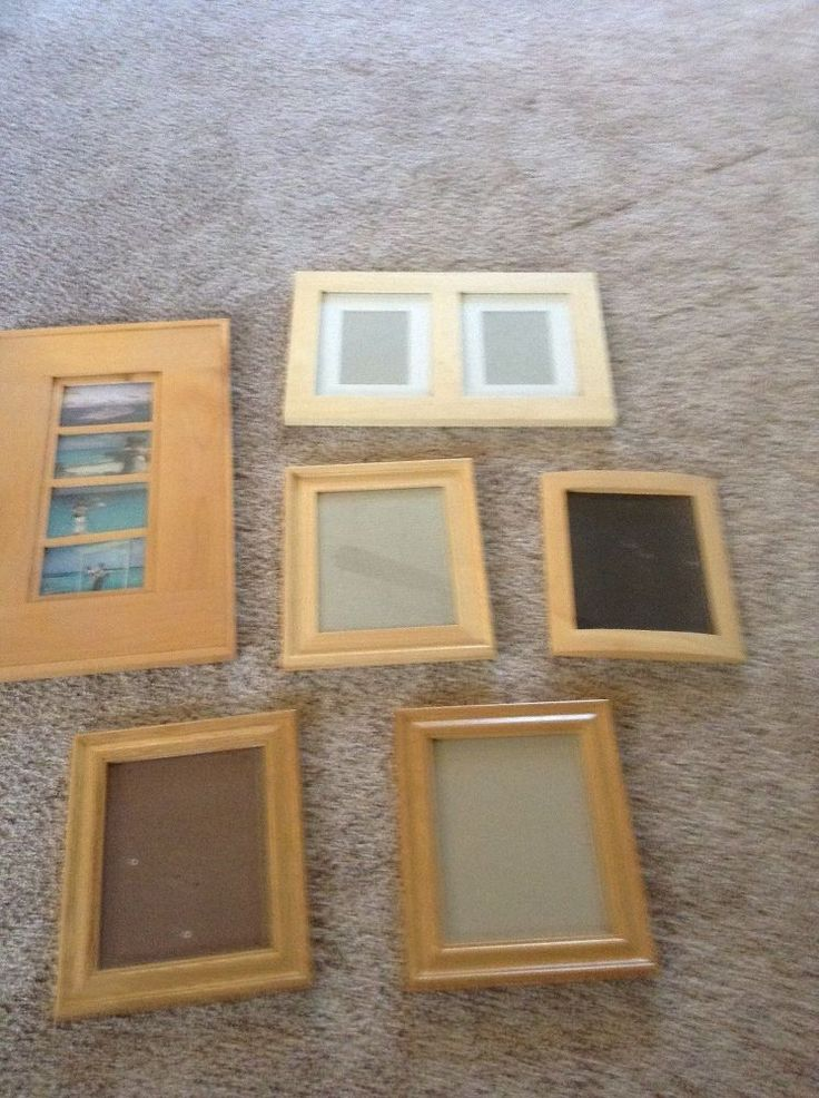 oak picture frames shabby chic color