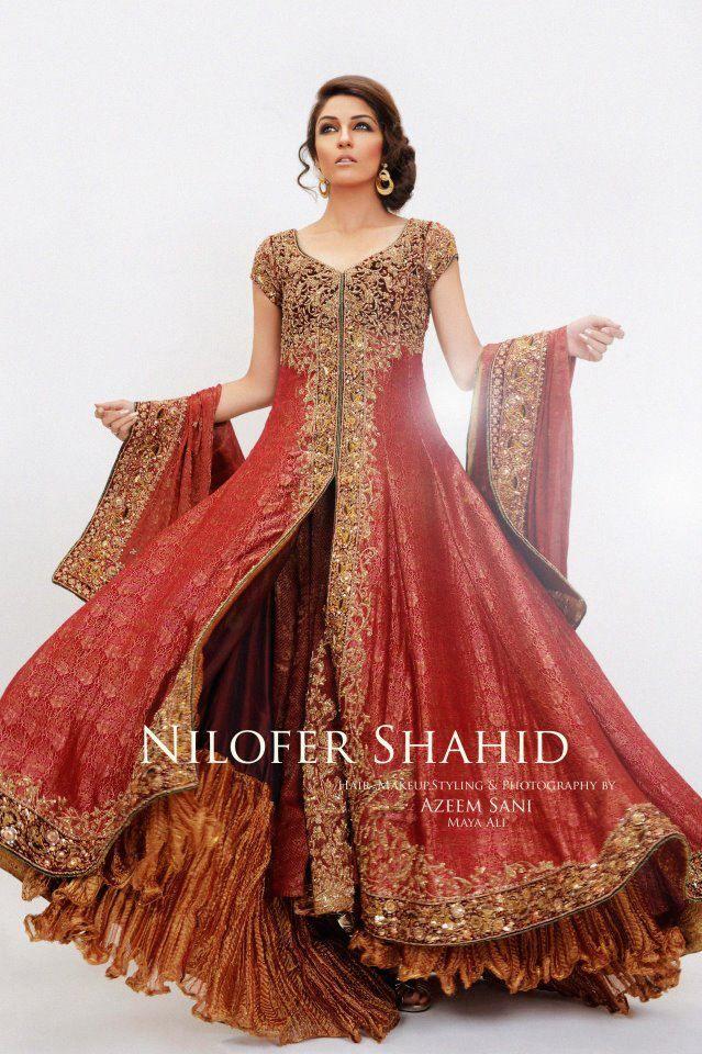 Latest fashion walima and wedding bridal dresses 2012 in Pakistan