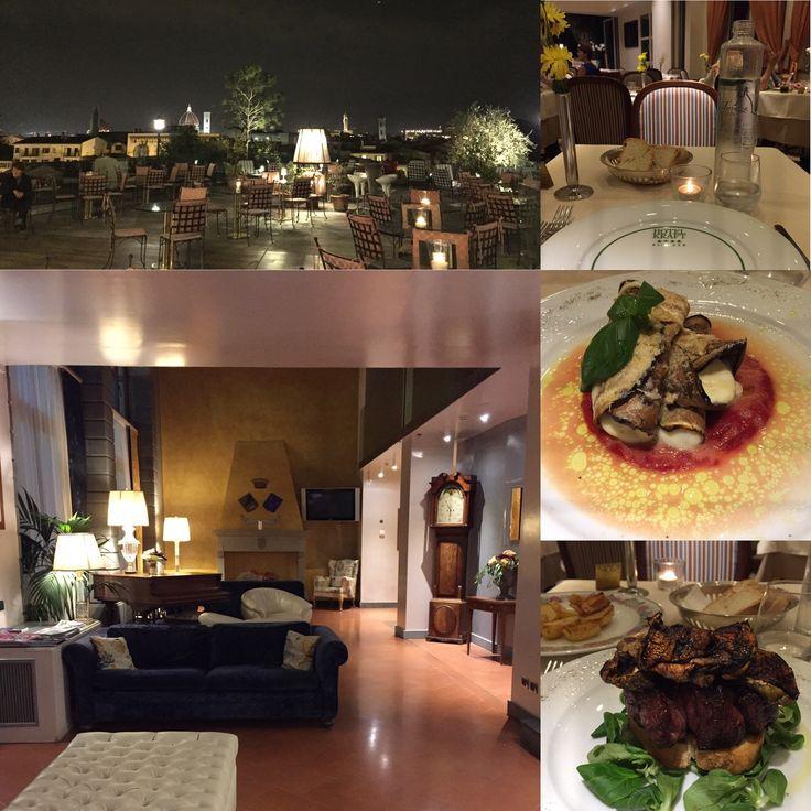Ristorante Terrazza Rossini a Firenze : è il ristorante dell' hôtel Kraft****, ottima cucina raffinata, servizio eccellente e terrazza panoramica.
