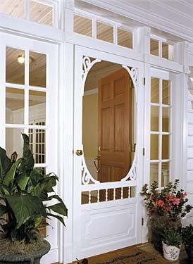 I would love to have a screen door like this someday. However right now, with the style of my home, it would just look silly.