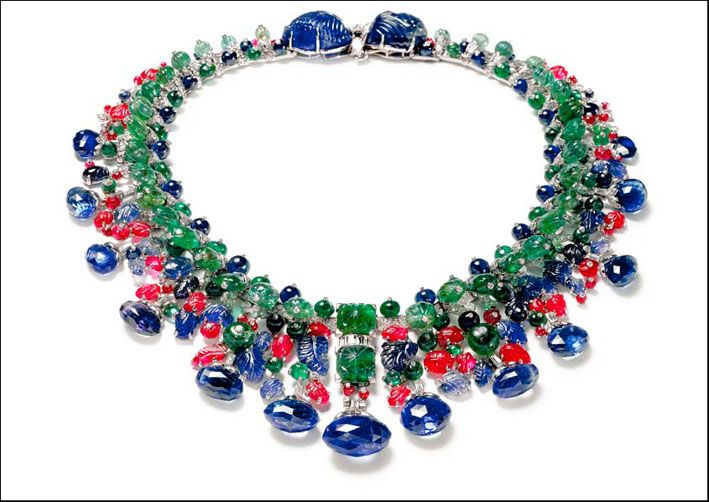 Cartier, collier Hindou Tutti i frutti