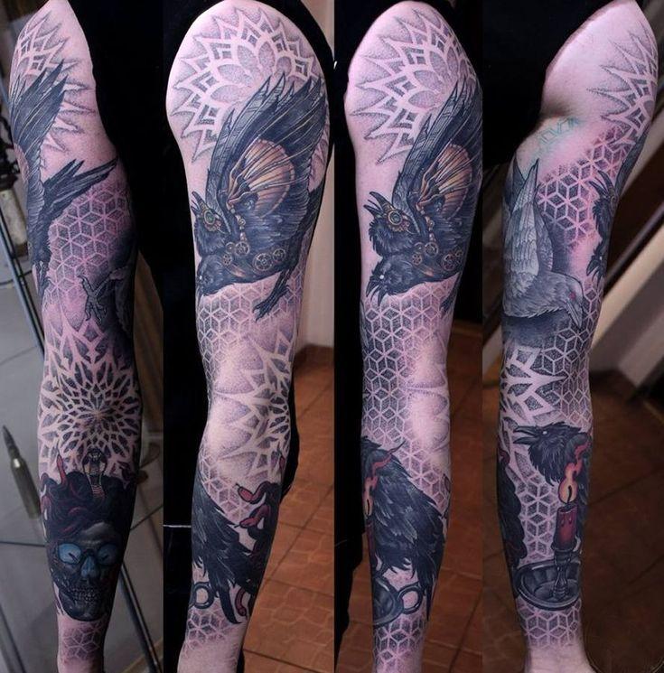 ptak tatuaże na rękę