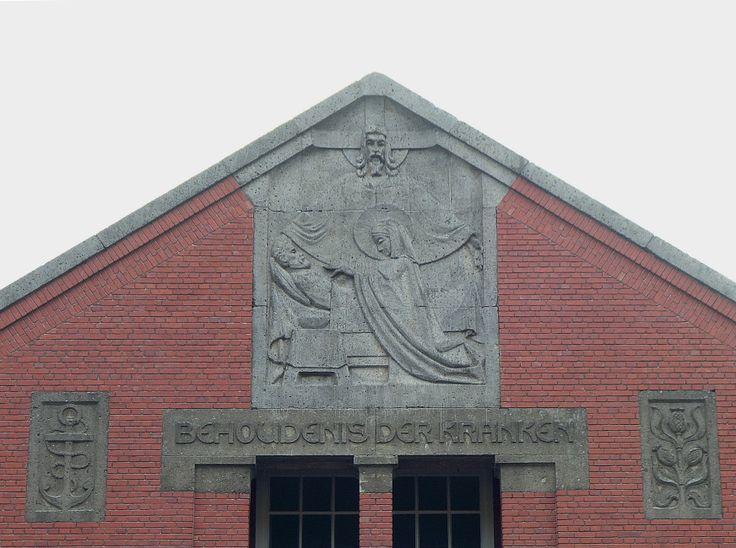 Voorgevel Rooms Katholiek Ziekenhuis Hereweg , Groningen