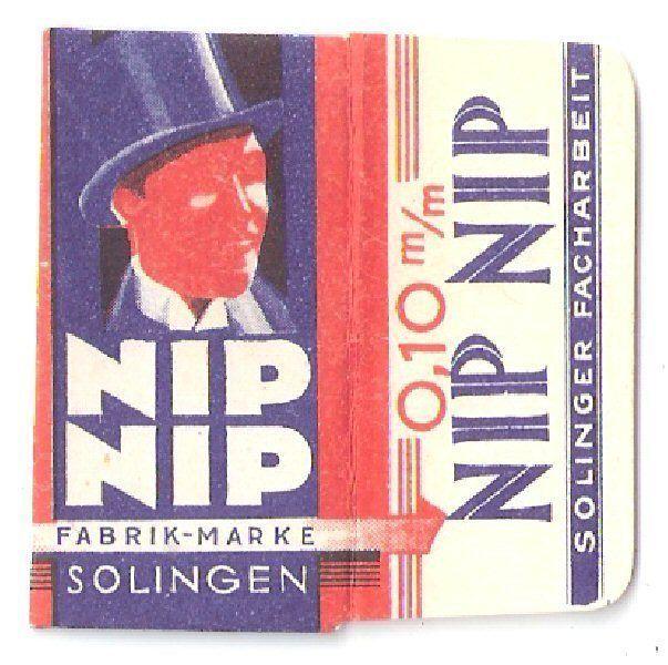 Nip Nip -  Razor  Blade with wrapper Lame de Rasoir