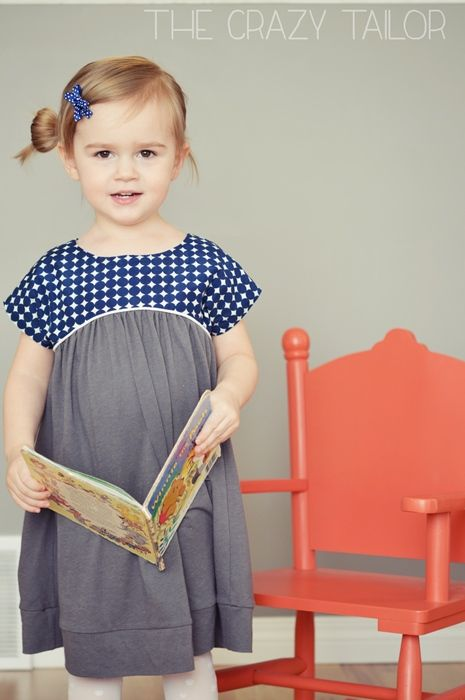 Climbing the Willow Izzy top - sewn with woven bodice and knit skirt