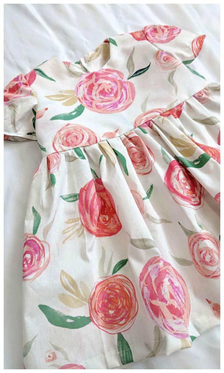 Rose floral easter dress for toddler girls. #easter #toddler #affiliate