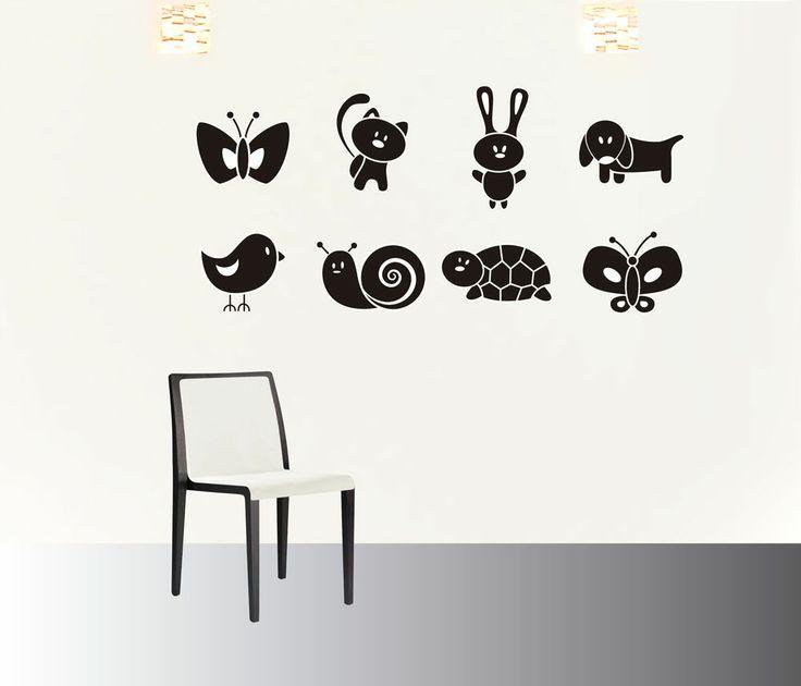 pets #decoraconvinil #vinilosdecorativos #decoracion #decoratupared #mariposa #gato #conejito #pajarito #caracol #tortuga #perro