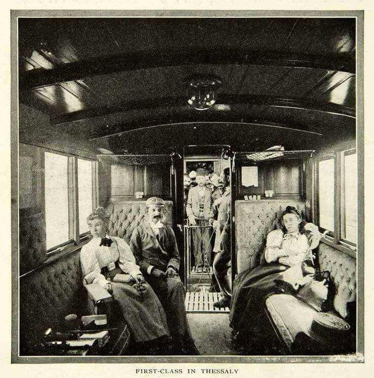 Θεσσαλια 1903, 1st class train cabin.