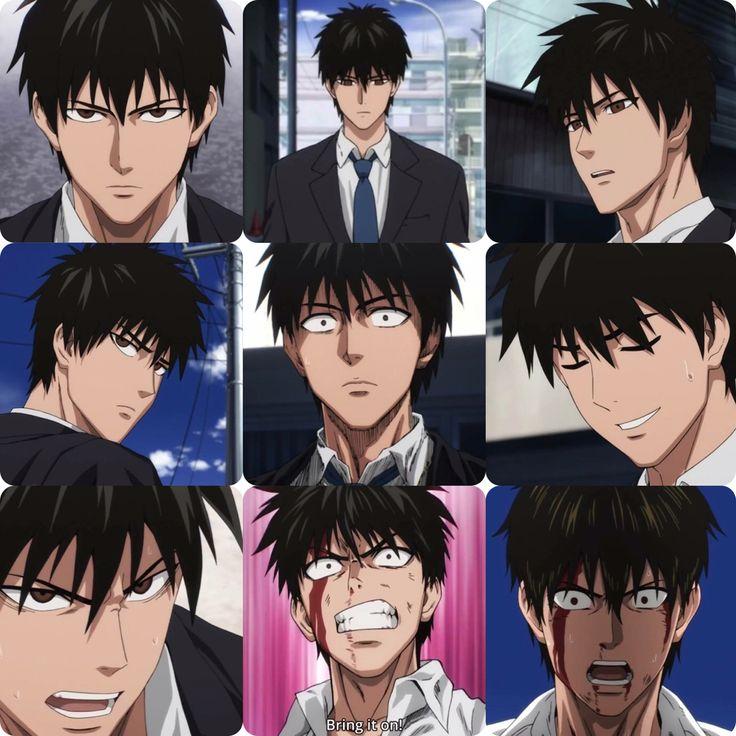 When Saitama still had his hair :,) (One Punch Man - Episode 1)