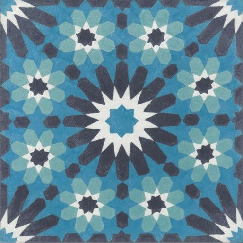 Moroccan Encaustic Cement Pattern Pre Sealed 23b