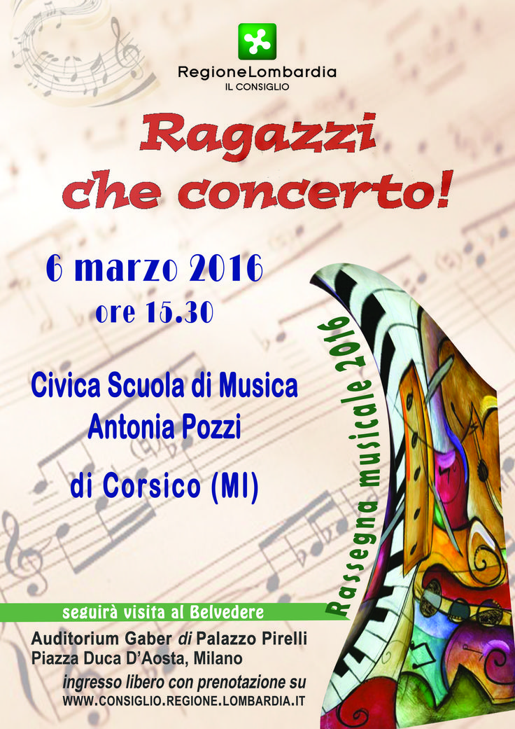 """""""Ragazzi che concerto!"""" 6 marzo  2016"""