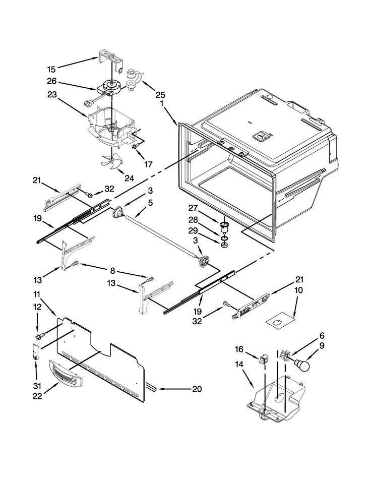 Kitchenaid refrigerator parts model kfxs25ryms1 sears