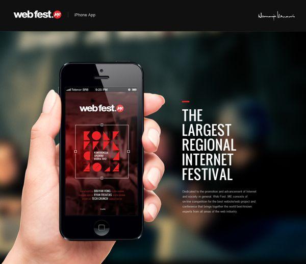 WebFest - iPhone App by Nemanja Ivanovic