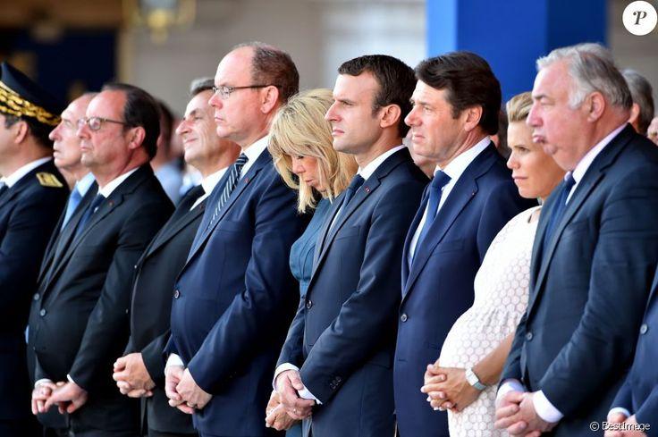 Gérard Collomb, François Hollande, Nicolas Sarkozy, le prince Albert II de Monaco, Brigitte Macron (Trogneux), le président de la République