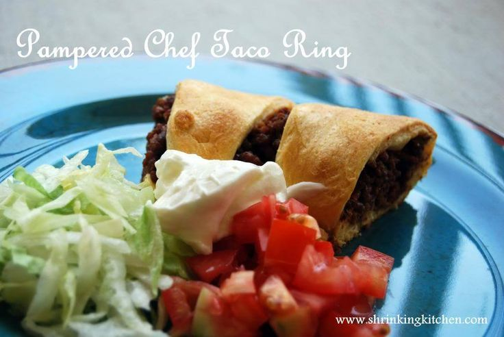 The Pampered Chef Taco Ring recipe makes a great appetizer and an even better dinner entree!
