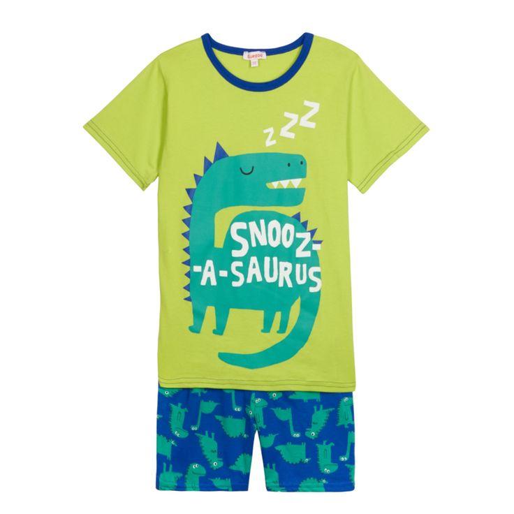 bluezoo Boy's green dinosaur printed pyjama bottoms- at Debenhams.com