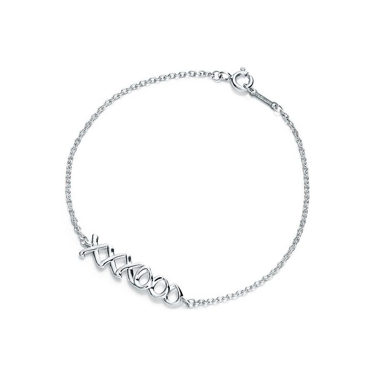 Paloma's Graffiti love & kisses bracelet in sterling silver, medium. | Tiffany & Co.