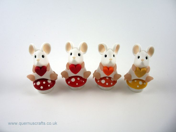 Teeny Toadstool Mice (toadstools by Awesome Wooden Gifts)
