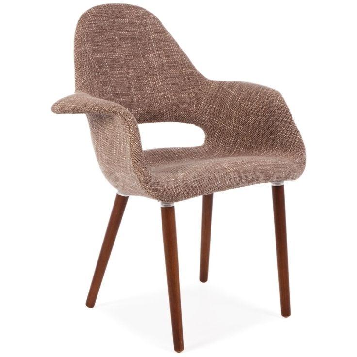Jídelní židle Natural hnědá / tmavá podnož | www.designovynabytek.cz