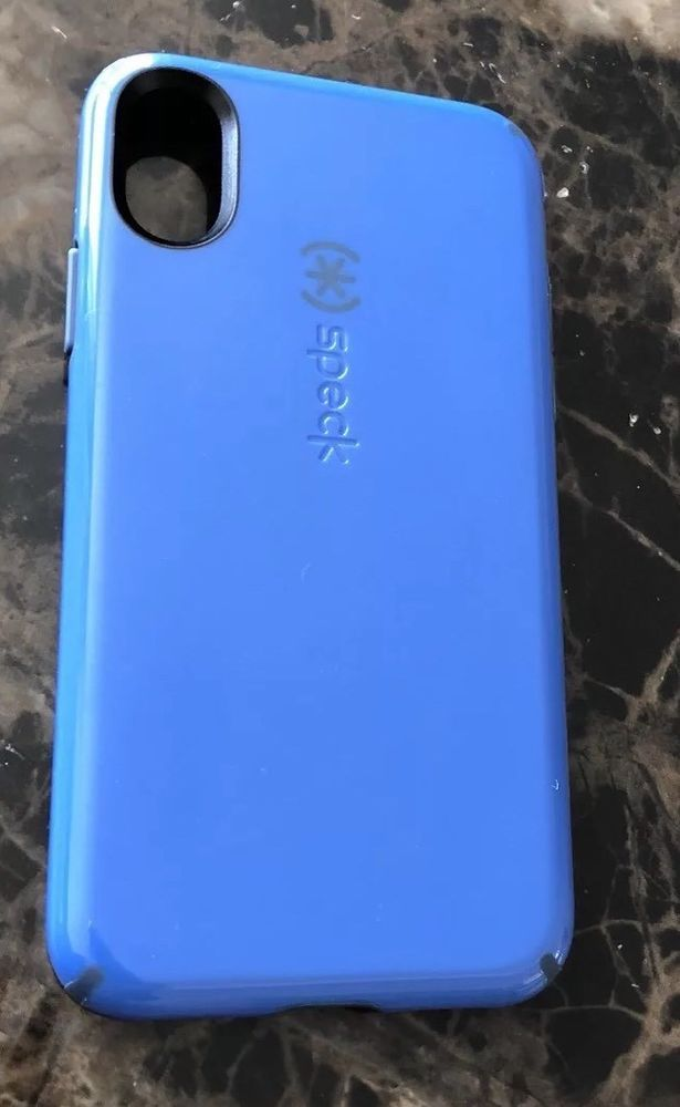 new style a5c1f 66646 Pre_owned Speck Candy Shell Apple iPhone X case Cobalt Blue Drop ...
