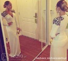 Nova África Mulheres Branco V Neck Manga Comprida Árabe Vestidos de Noite Com Apliques Vestidos Marroquino Kaftan Árabe Robe(China (Mainland))