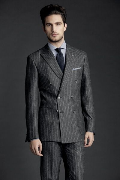 Double Breasted suit using Scabal cloth.