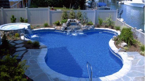 National Pool Design Contemporary Backyard Landscaping With ...