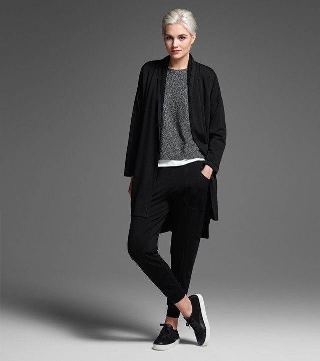 grey + black casual layers