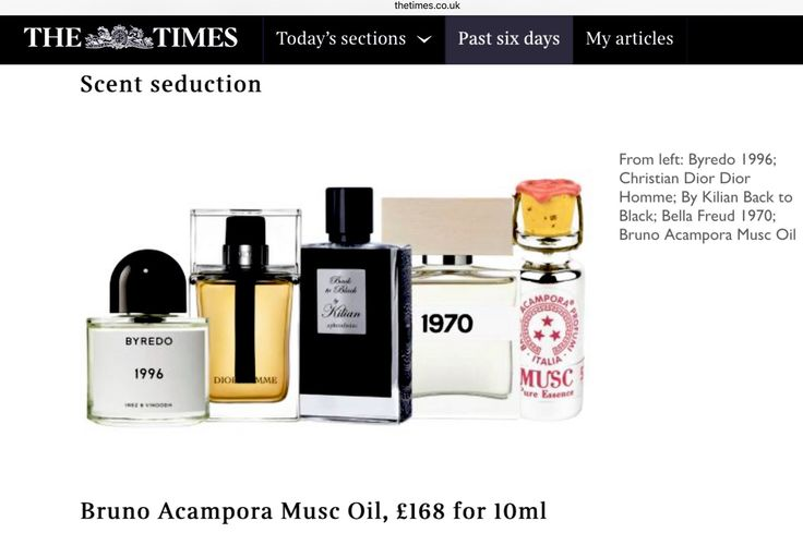 Our #MUSC is amongst the world's sexiest perfumes in the #world, according to The #Times!