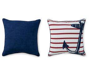 I found a Anchor Outdoor Throw Pillow, (17