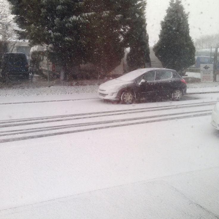 January snow! Central scotland, near edinburgh.