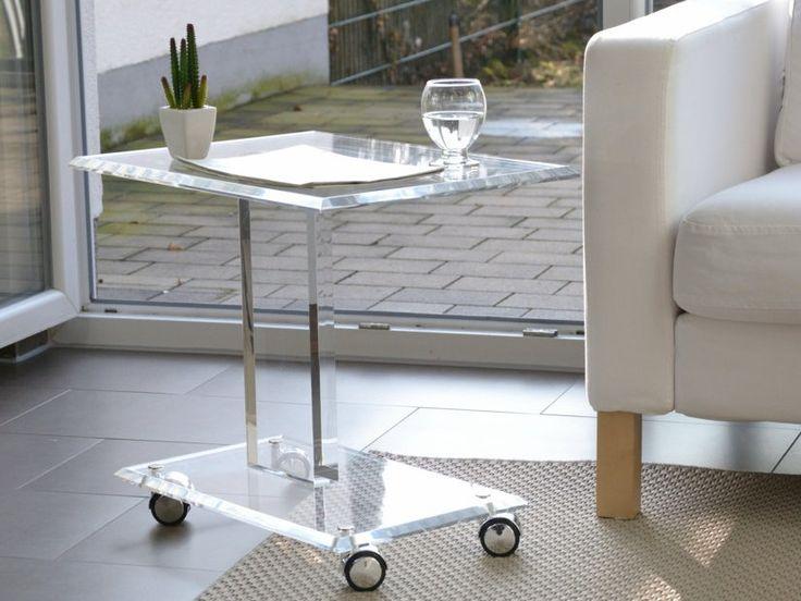 Cicero Acryl   Beistelltisch / Objektsäule Auf Rollen. Facettiert Und  Handpoliert. Lassen Sie Sich Von Unseren Möbel Designs Inspirieren.