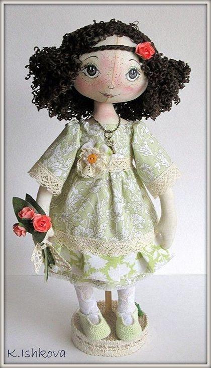 """Куклы тыквоголовки ручной работы. Ярмарка Мастеров - ручная работа Текстильная кукла """"Вита"""". Handmade."""