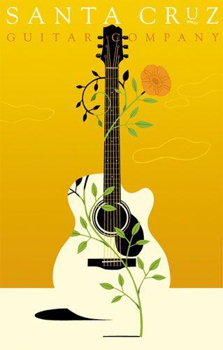 Santa Cruz Guitar Company | Craig Frazier Studio // #illustration