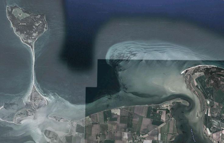 'Google Maps' map of Æbelø Island - island of Fyn/Funen/Fünen Denmark.