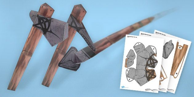 Stone Age Tools Paper Models Resource Pack
