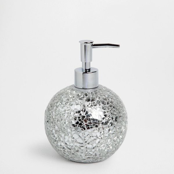 silver crackle bathroom accessories. Zara Home CRACKLE GLASS DISPENSER  21 liked on Polyvore featuring silver e 33 best images Pinterest home Bathroom