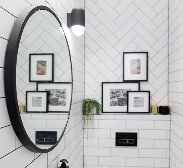 SPOILER: (in case you didn't know The Block is on tonight!) This is @kimandchris's WC. What did you think of the tiles? Shop the look at The Block Shop now #9theblock http://ift.tt/2fg66sT