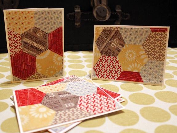 Hexagon cards by craftapple, via Flickr