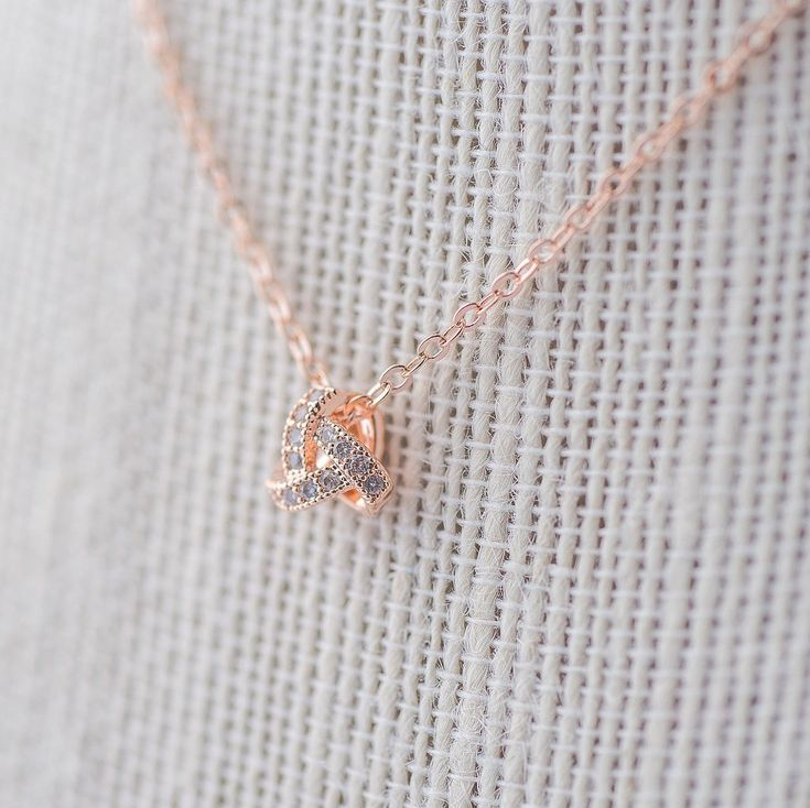 Excited to share the latest addition to my #etsy shop: Pave Knot Pendant Necklace - Rose Gold CZ Necklace, Bridal Necklace, Wedding Necklace, Crystal Rose Gold Necklace, Bride Necklace https://etsy.me/2I4X9A9 #jewellery #necklace #rosegold #bridesmaid #jewelry #wedding