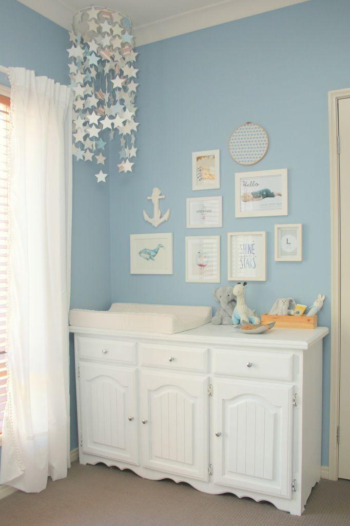 Project Nursery - baby blue nursery 10