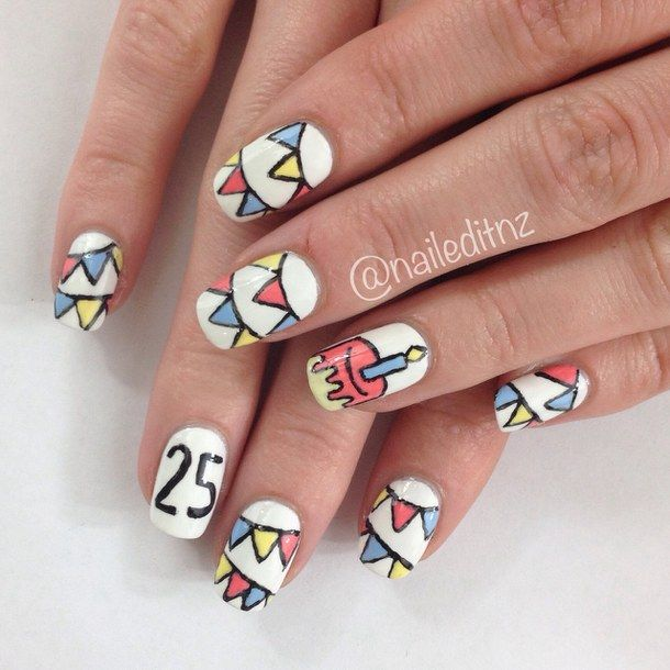 Birthday Cake Nails: 10+ Ideas About Birthday Nail Designs On Pinterest