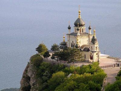 Красоты Украины: Форос. Крым. Церковь Воскресения Христова