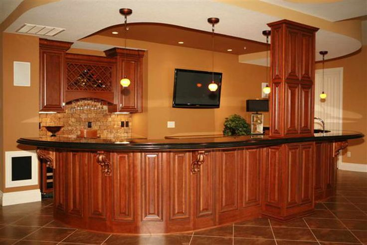WET BARS  | Wet Bar Designs for Small Space: Wet Bar With Hanging Lamp Designs ...