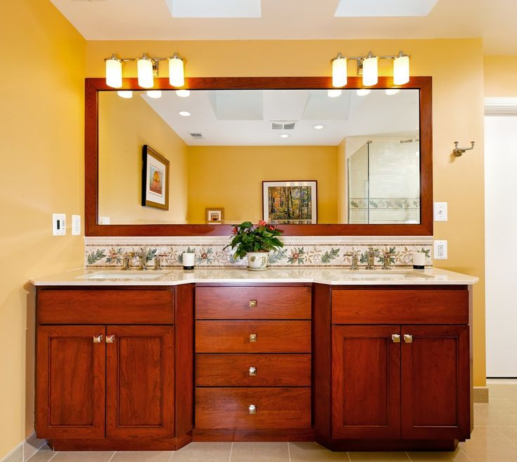 image of large framed mirrors for bathrooms