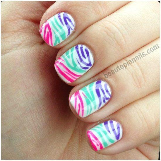 Best 20+ Zebra Nail Designs Ideas On Pinterest