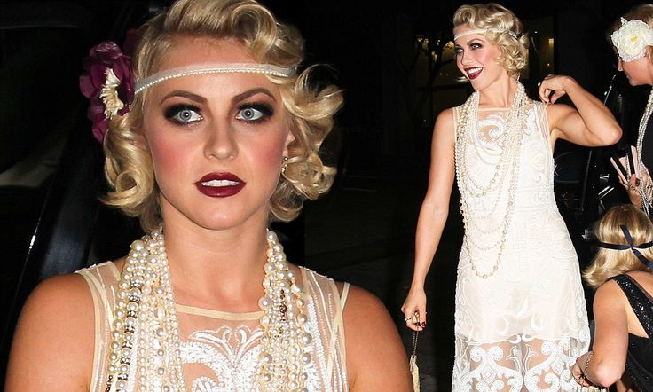 What a flapper! Julianne Hough goes Gatsby in a 1920s style dress to mark her 25th birthday