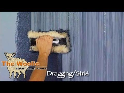 Dragging Strie How To Faux Finish Painting by The Woolie - YouTube