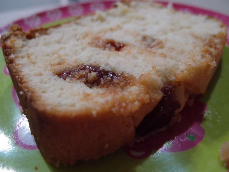 Cream Cheese and Guava Paste Pound Cake #cake #cheese #food